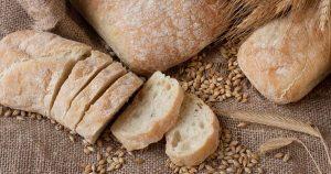 White bread on burlap