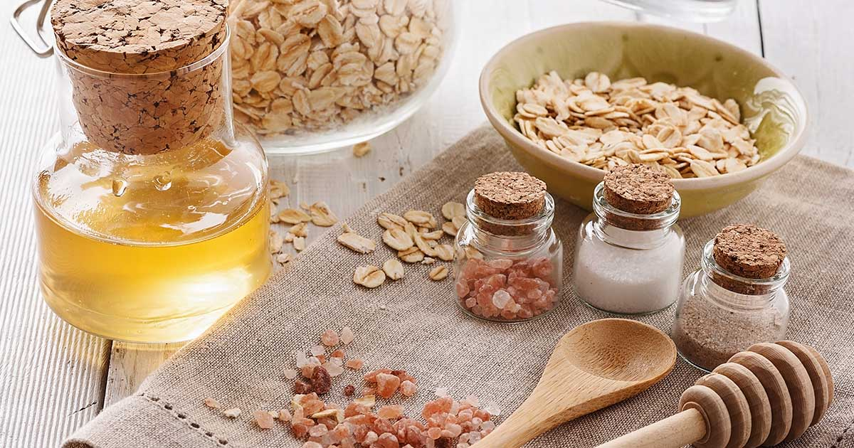 Oatmeal, honey, sea salt and other DIY ingredients